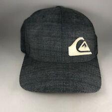 Gray Quiksilver Logo L / XL Stretchback Flexfit Mens Baseball Cap Hat
