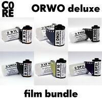 ORWO Film bundle DELUXE by C0RE • b/w negative reversal film • 6x films • 35mm
