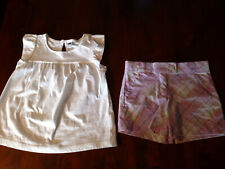 JANIE & JACK Girl's Classic Bow Top and Lavender Bouquet Shorts Set 5
