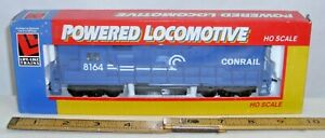 LIFE LIKE 8074 GP 38 BLUE CONRAIL DIESEL HO LOCOMOTIVE BOXED