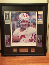 Joe Montana Authographed Retirement Lithograph