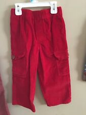 Kelly's Kids 4T Red Corduroy Pants Boy Cargo Style Wear with Smock Dressy Boutiq