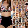 High Waisted Women Bikini Set Padded Push Up Swimwear Beachwear Bathing Swimsuit