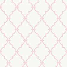 Pink White Trellis Wallpaper|Nursery Baby Teen Modern Accent Wallpaper| YS9101