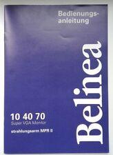 Bedienungsanleitung Super VGA Monitor Belinea 104070, vintage