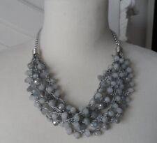 Kette Halskette Damen Farbe Gold mit Kristallen Zirkonia Eng Modekette Schmuck