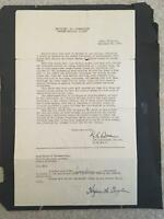 Hazen Kiki Cuyler Signed Contract from Cuyler Family! PSA/DNA HOF Chicago Cubs