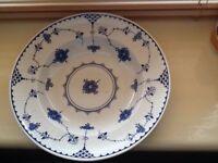 Johnson Brothers Blue Denmark Rimmed Soup Bowls