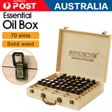 NEW 70 Slots Essential Oil Storage Box Wooden Case Container Holder AU