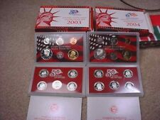 2003 &  2004 US SILVER PROOF SETS BOTH 90% SILVER COINS--NO RESERVE!  #22