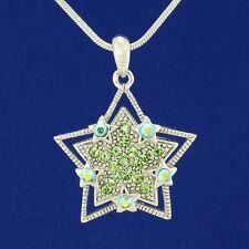 Wish Star W Swarovski Crystal Green Pendant Necklace Gift Jewelry