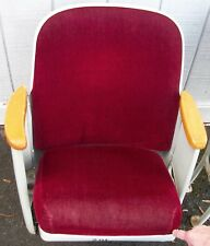 Art Deco Burgandy Movie Theater Seats
