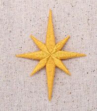 Large Yellow Nativity Star Christmas - Iron on Applique/Embroidered Patch