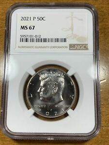 2021-P 50c Kennedy Half Dollar NGC MS67