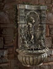 Outdoor Liberty Blagdon Aquarius Wall Fountain Mains Free Water Feature