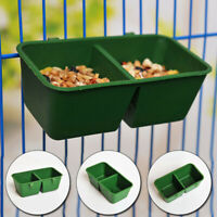 Pet Plastic Food/Water Bowl Pigeons Feeder Feeding Cup Bird Cage Splash-proof
