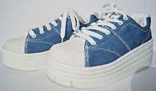 NEW Denim Soda Platform Original Retro Women's Platform Sneaker Denim Gas Shoes