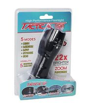 Tactical Light Flashlight LED Waterproof Shockproof Hi/Low Tac/Beam/Strobe on TV