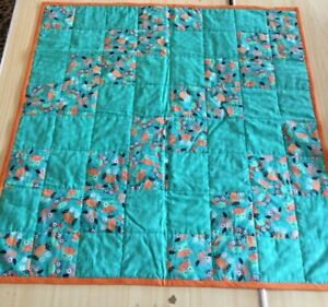 Quilted Baby Playmat Handmade Sewn Light Fabric Washable Double Sided 90cm V428
