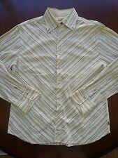 Men's ENGLISH LAUNDRY Embroidered FLIP Cuff L/S PEACE LOVE Shirt Sz. XL    H66