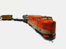 Vintage Marx Tin Litho Southern Pacific 6000 Train Engine Dummy  W/ Cars