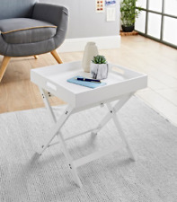 Bjorn Folding Tray Table Easily Convert From Coffee Table To Lap Tray - White