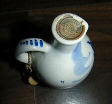 Erven Lucas Bols Bottle Decanter Amsterdam Blue & White UNOPENED Zenith 1950
