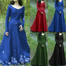 Vestido de Boda mujeres Vestido Medieval Vintage Disfraz Vestido de fantasía elfos Gow Renacimiento