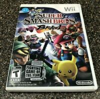 Super Smash Bros. Brawl (Nintendo Wii, 2008) Clean & Tested - Free Ship