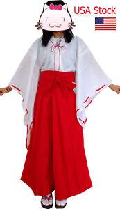 Japanese anime Inuyasha Psychic Kikyo Kimono Cosplay party Halloween Costume
