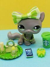 Authentic Littlest Pet Shop #467 Variante  Cat   & ACCESSORIES TREATS