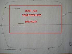 1970 - 1971 FORD FAIRLANE / TORINO / GT COBRA SHAKER HOOD CUTOUT TEMPLATE