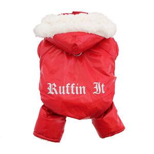 Doggie Design Ruffin It Dog Snowsuit  Red