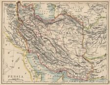 PERSIA(IRAN).Showing provinces.Iran.Persian Gulf.Bushehr.JOHNSTON 1906 old map