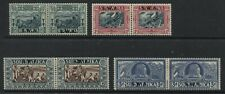 South West Africa 1938 Semi-Postal set in pairs mint o.g.