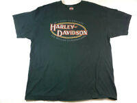 Harley Davidson Motorcycles Dallas Texas Black T-Shirt Sz XL Short Sleeve Shirt