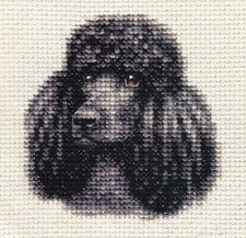 BLACK STANDARD POODLE, dog ~ Full counted cross stitch kit with all materials