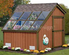 8 x 8 Greenhouse Nursery Garden Structures Shed Plans, Design #40808