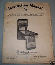 Original Nugget Bowler Operations Manual Parts Book