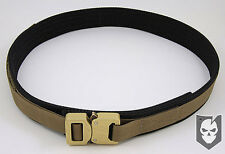 Med black and Tan EDC Tactical Military Assault Gear Cobra Buckle Riggers Belt
