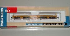 WALTHERS 932-5645 66' HEAVY-DUTY 4-TRUCK FLAT CAR UNION PACIFIC UP 50028
