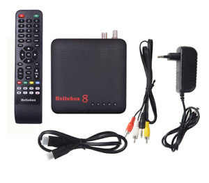 New Hellobox 8 Receiver Satellite DVB-T2 DVB S2 Combo TV Box Tuner Free Shipping