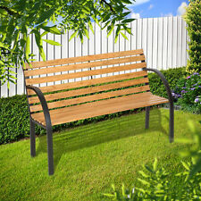 3 SEATER WOODEN GARDEN BENCH CHAIR PARK SEAT OUTDOOR FURNITURE RRP £49.99