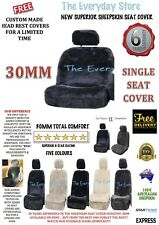 New Premium Genuine Sheepskin Car Seat Cover SINGLE 30MM Airbag Compatible 6yr