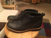 NWOB Rockport V74246 Black Men's US9 Adiprene Leather India Chukka Boots Shoes