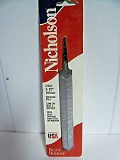 "Nicholson 5 1/2 (6"") Websaw File Hand Saw Cross Cut 21823 Black Diamond USA Pulp"