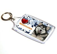 Malamute Keyring  Dog Key Ring Malamute Dog Gift Xmas Gift Stocking Filler