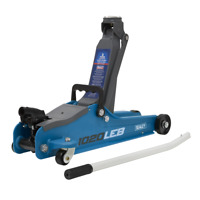 BB21 Trolley Jack 2 Tonne Low Entry Short Chassis Stand Jack - BRIGHT BLUE