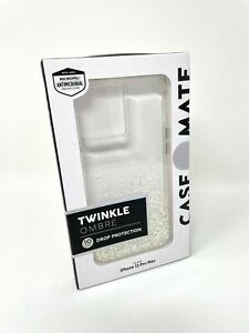 """Case-Mate Twinkle Ombre Case for Apple iPhone 12 Pro Max 6.7"""" Stardust Clear"""