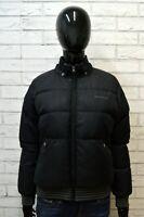 WOOLRICH & BROS Donna Giubbotto Nero Piumino Taglia Size L Giacca Jacket Woman